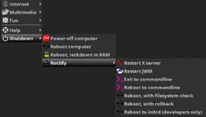 easyos 2.4 menu gnu/linux