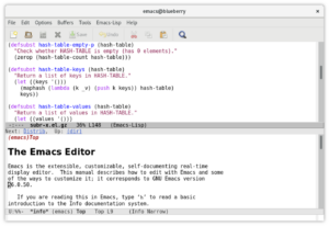 emacs 27.1 open source lisp