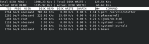 input output monitor iostat iotop ionice sysadmin
