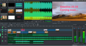 kdenlive 20.08 audio layout