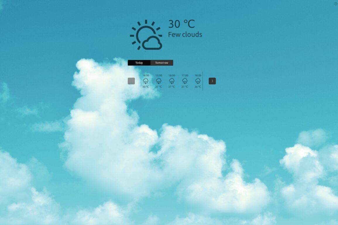 weather ubuntu