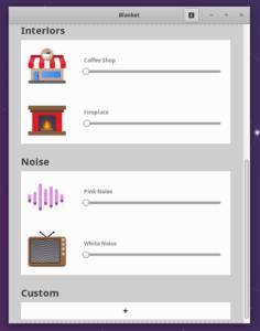blanket open source background noise offline