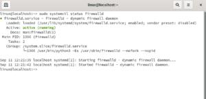 firewalld firewall sysadmin status
