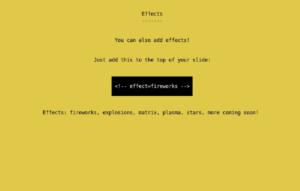 present open source terminal presentation tool