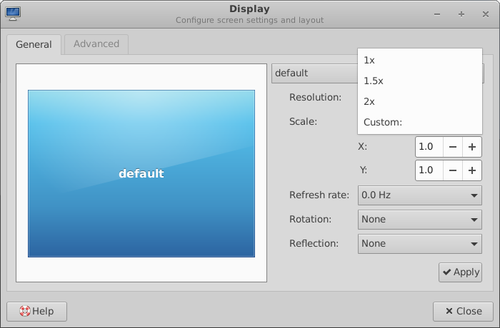 xfce 4.16 fractional scaling
