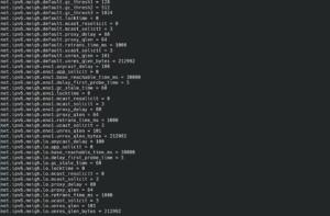 sysctl parameter list