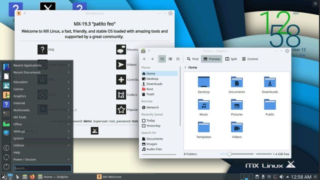 MX Linux 19.3 patito feo