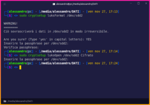gnu/linux cryptsetup