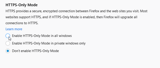firefox 83 https only