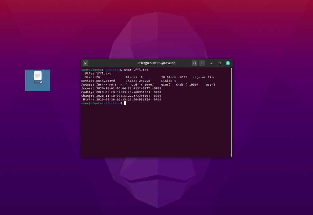 lffl timestamps linux stat