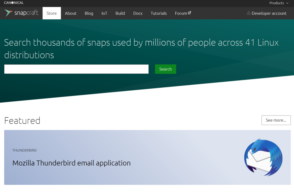 canonical snap store