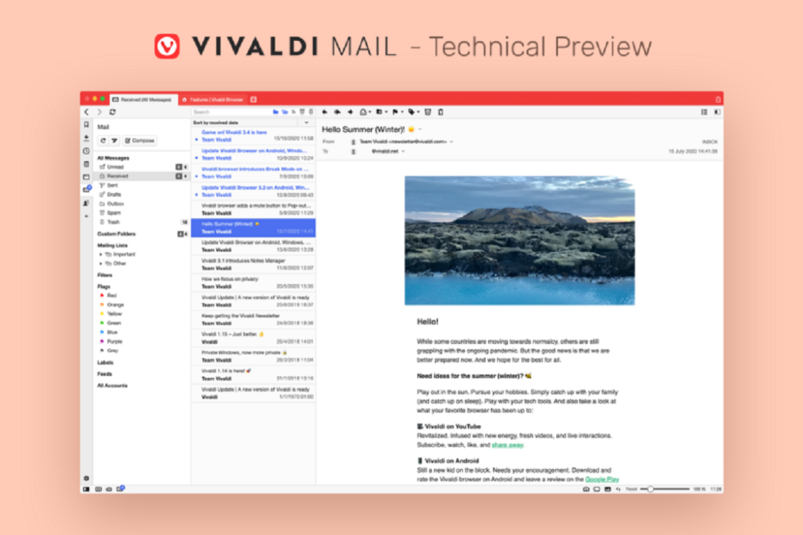 vivaldi browser preview