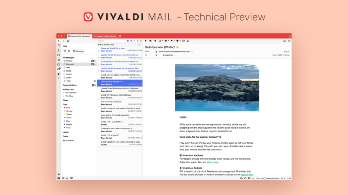 vivaldi browser preview