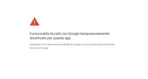 errore google
