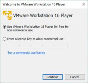 vmware workstation player licenza