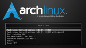 arch linux start menu