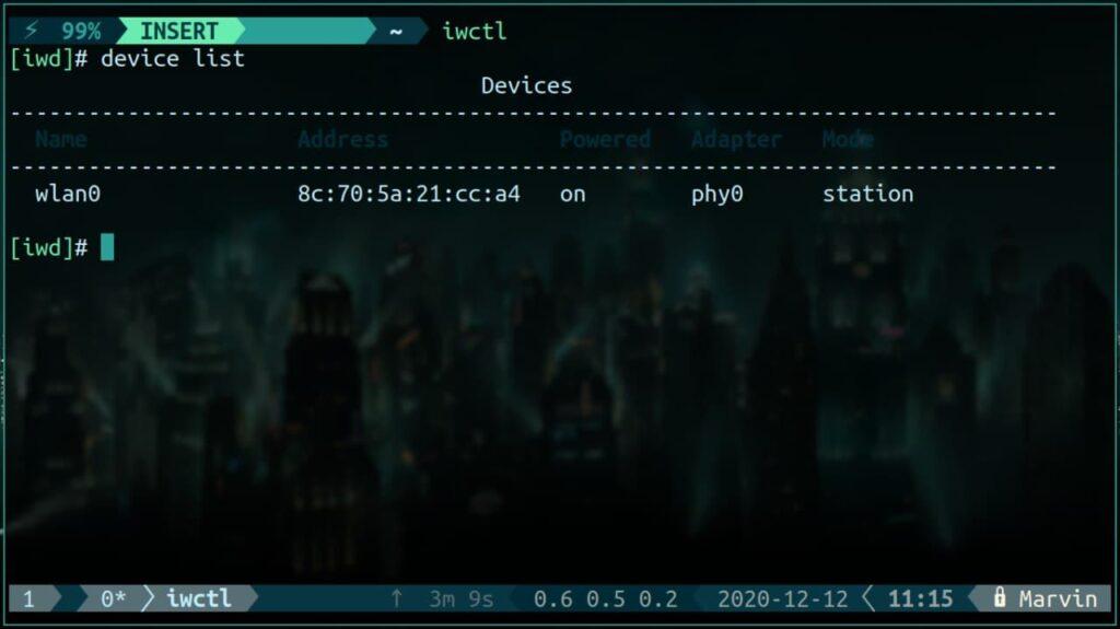 arch Linux iwd