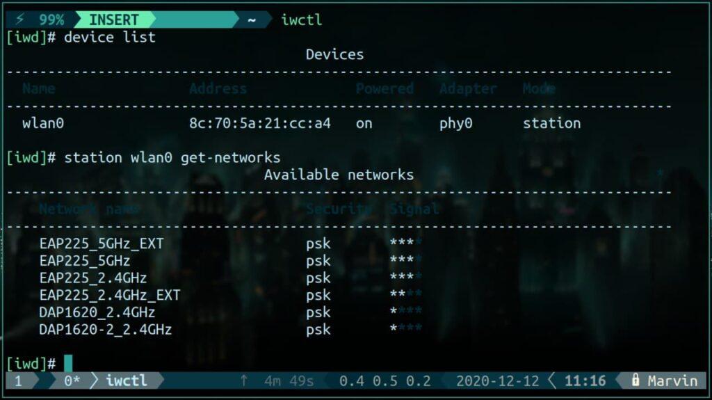 arch linux wi-fi iwd