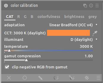 color calibration module darktable 34
