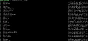 gnu/linux sicurezza pacchetti installati sysadmin