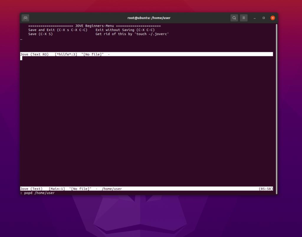 jove emacs ubuntu