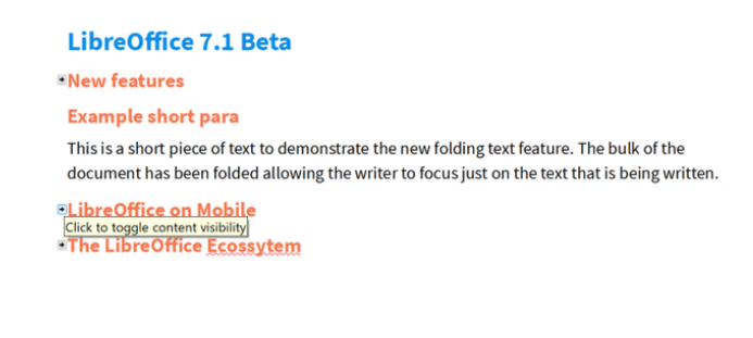 libreoffice 7.1 folding writer