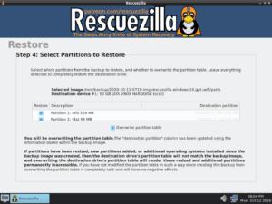 rescuezilla open source clonezilla alternative partitions