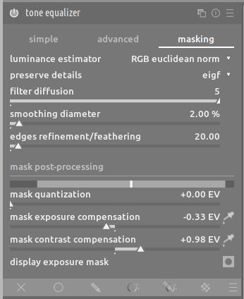 tone equalizer masking