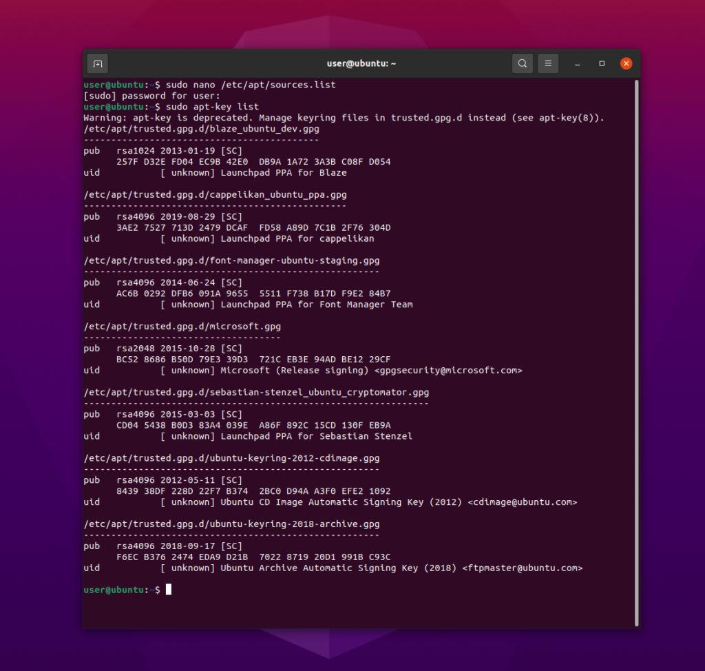 ubuntu gpg key