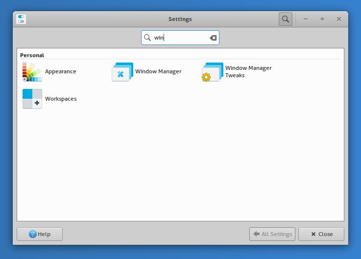 xfce 4.16 settings