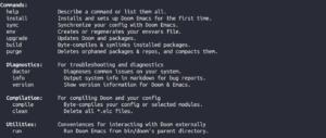 bin/doom help