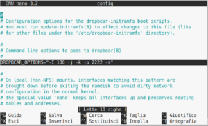 server config file