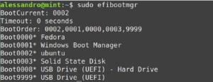 efi boot sequence efibootmgr