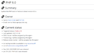 fedora wiki php 8