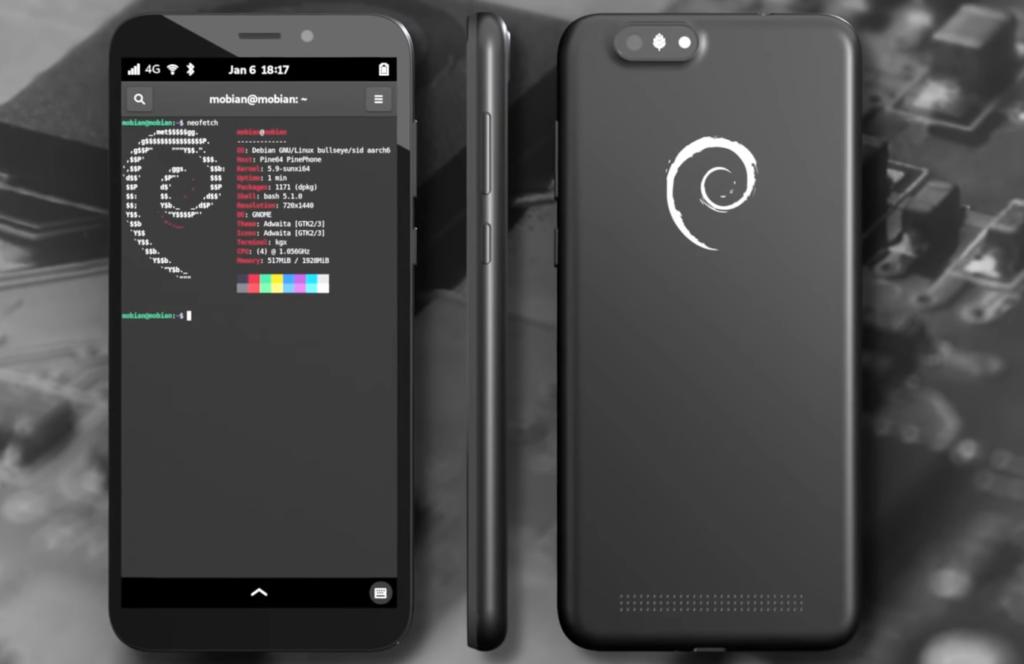 Pine64, arriva la quinta edizione del PinePhone con Mobian OS