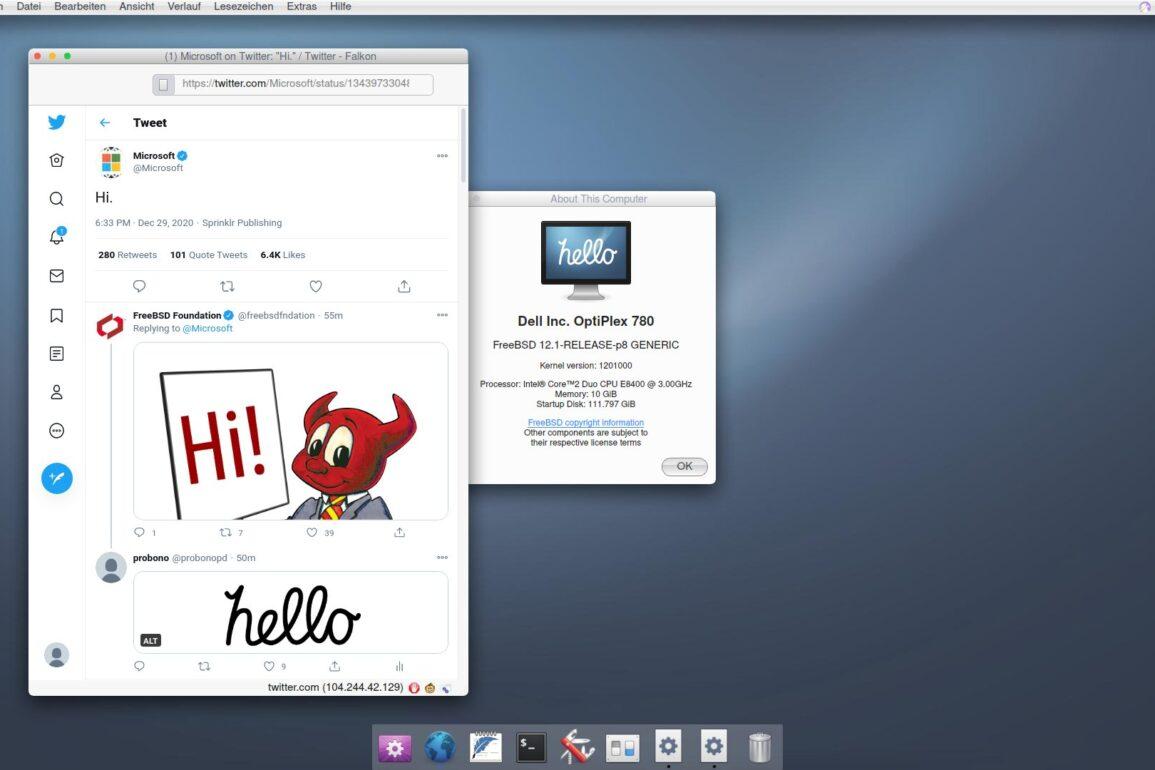 hello freebsd desktop
