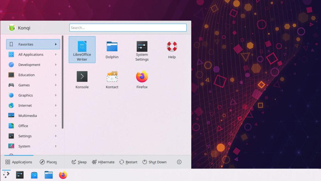 kde plasma 5.21 app launcher