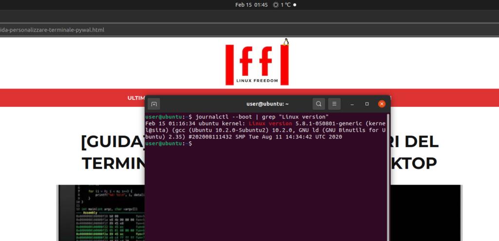 kernel linux output ubuntu 1