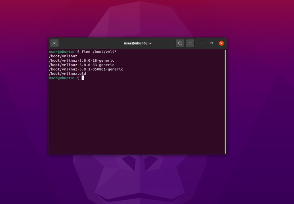kernel linux output ubuntu