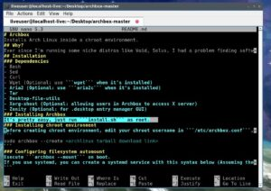 archbox arch linux chroot installation aur