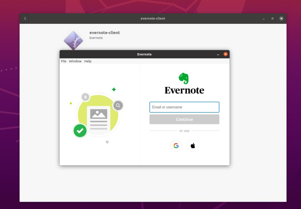 evernote app linux