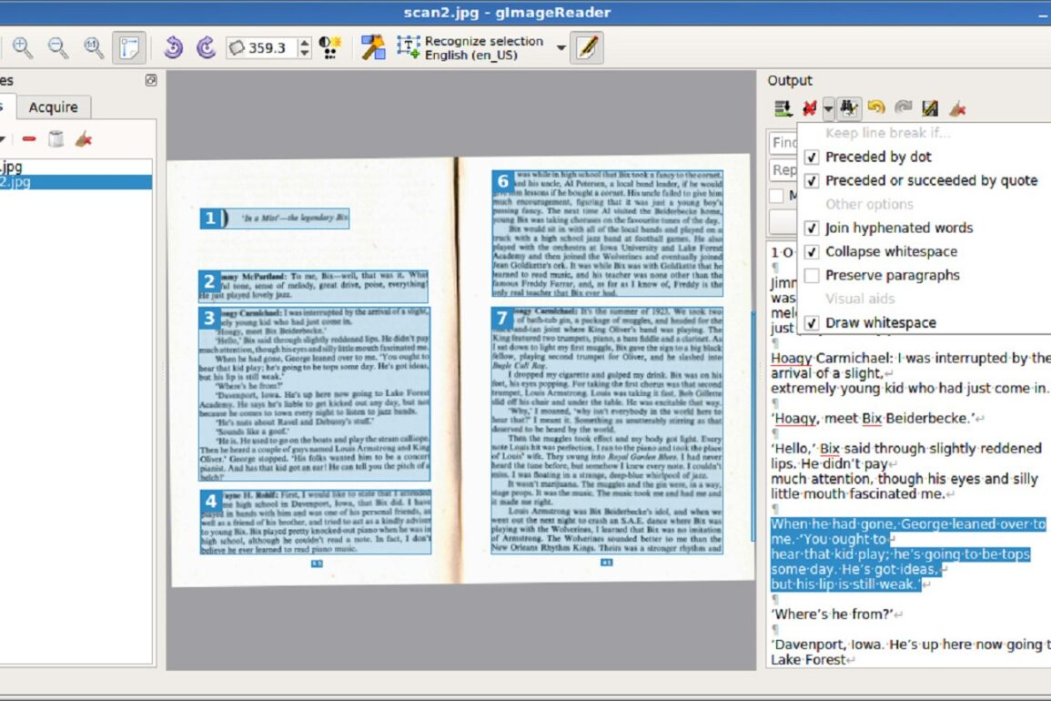 gimagereader tesseract ocr open source