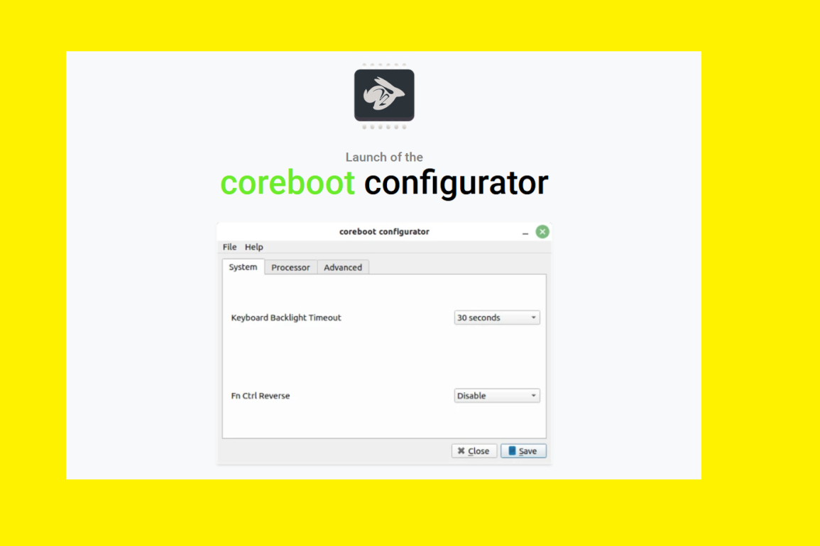 coreboot configurator star labs
