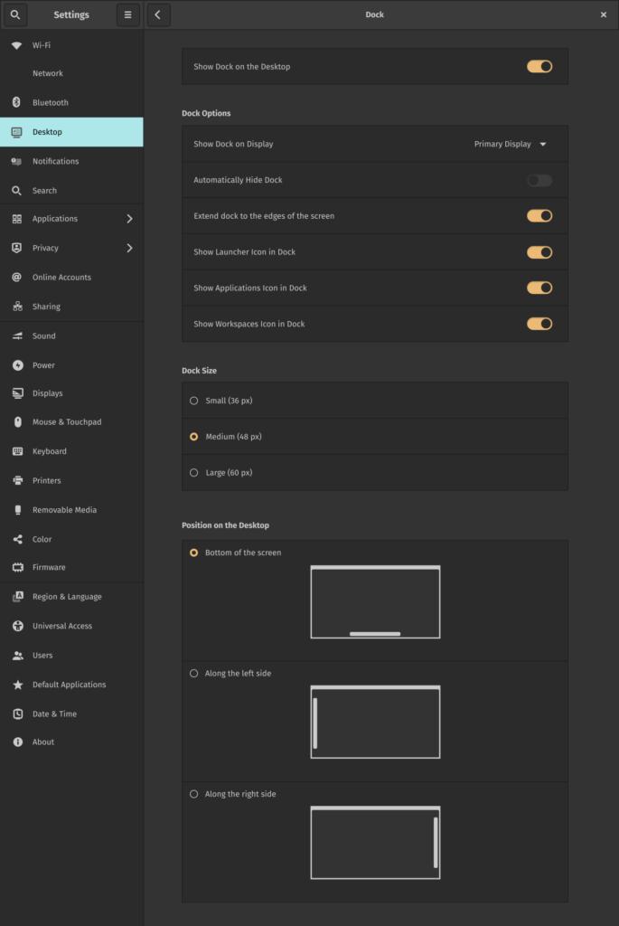 cosmic-desktop system76 settings