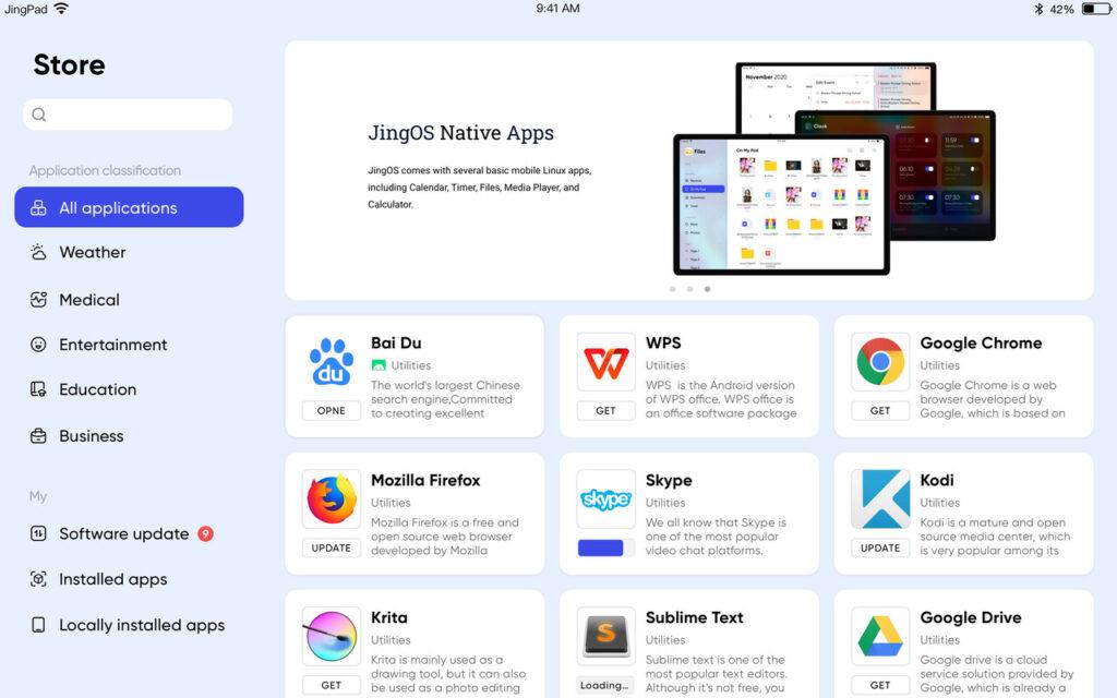 jingos 0.8 appstore