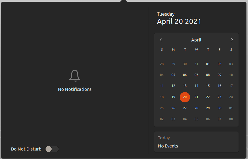 ubuntu 21.04 hirsute hippo dark mode