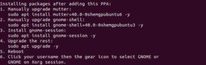 ubuntu 21.04 upgrade gnome