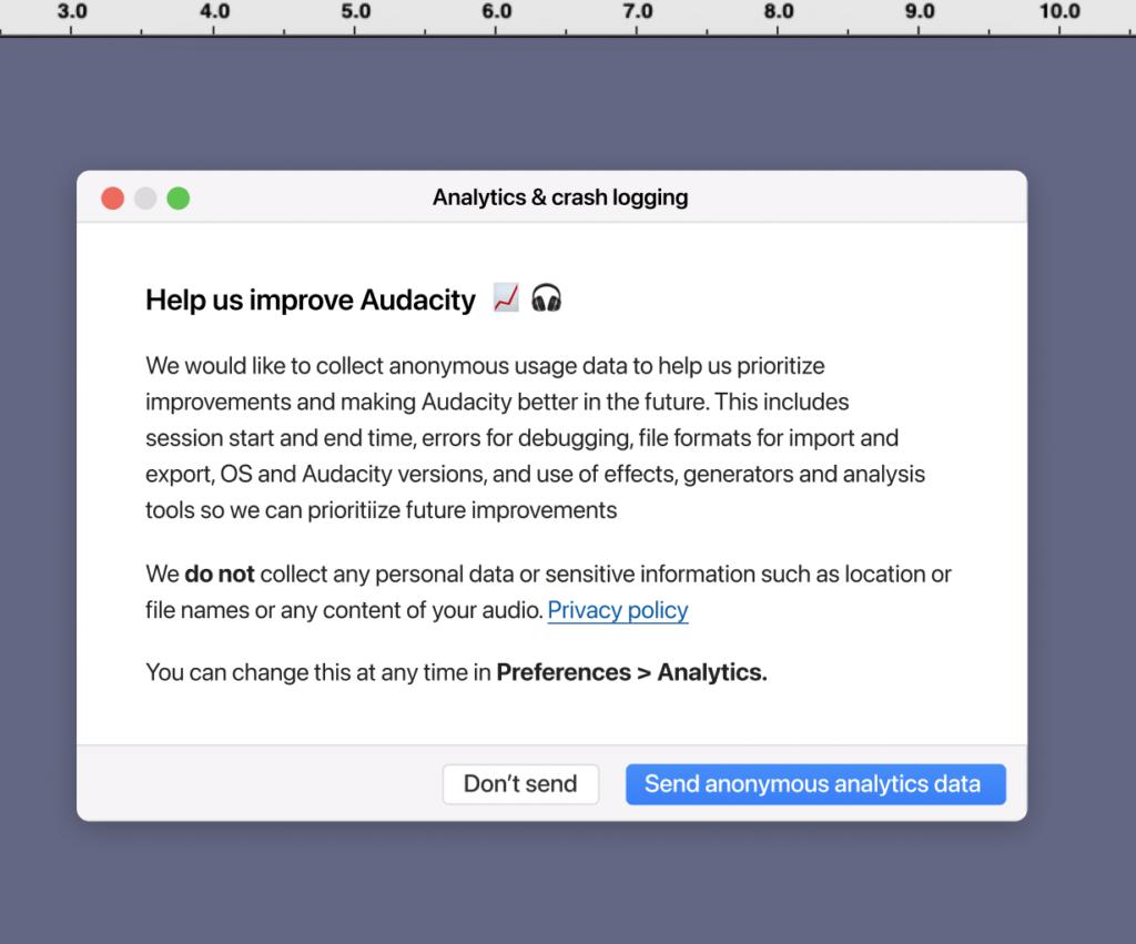 Audacity raccoglie i dati degli utenti? Polemiche per la nuova telemetria