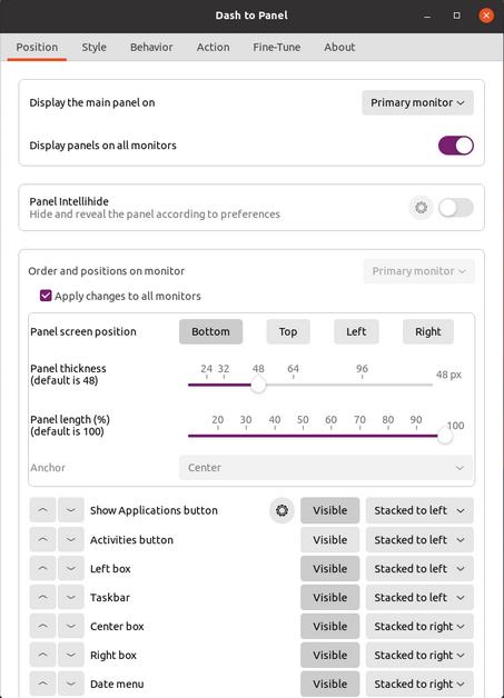 Disponibile Dash To Panel v43: arriva il supporto per GNOME 40!