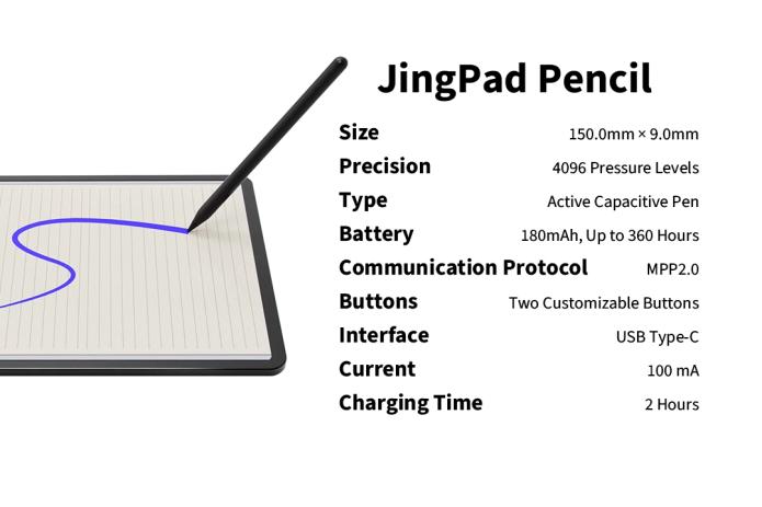 jingpad a1 pencil